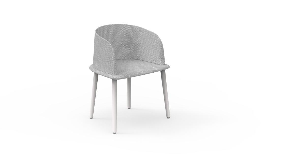Cleo//Alu Padded tub chair