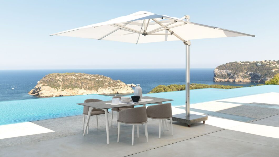 Cleo//Alu 150×150 Dining Table 1