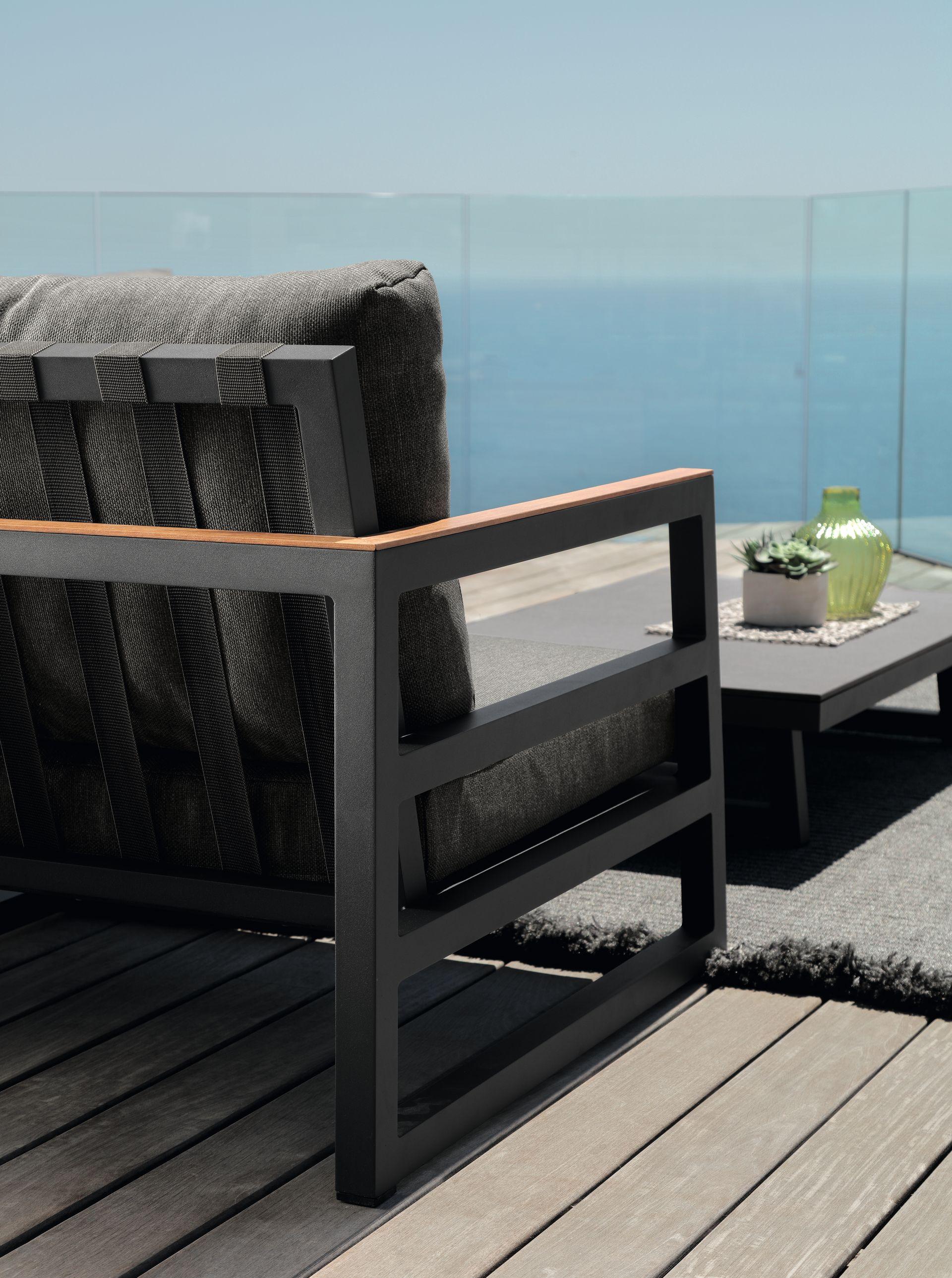 Alabama Alu Two Seater Sofa Italian Garden Furniture