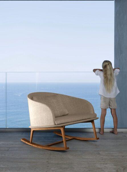 Cleo//Teak Love seat Sofa 4