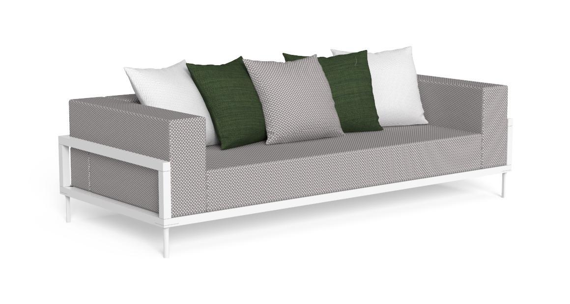 Cleo//Alu Three-seater Sofa
