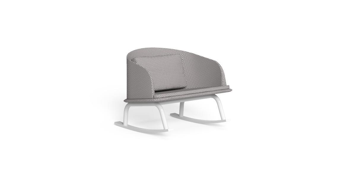 Cleo//Alu Rocking Chair