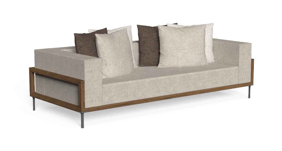 Cleo//Teak Three-seater Sofa