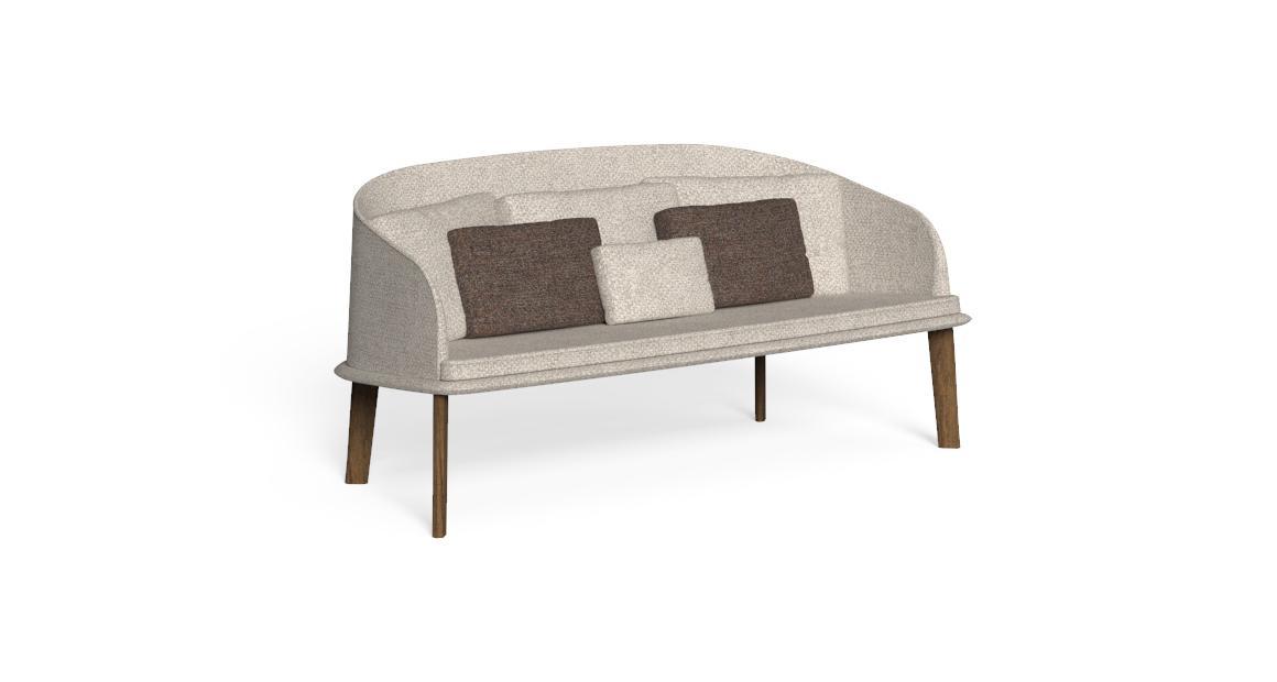 Cleo//Teak Love seat Sofa