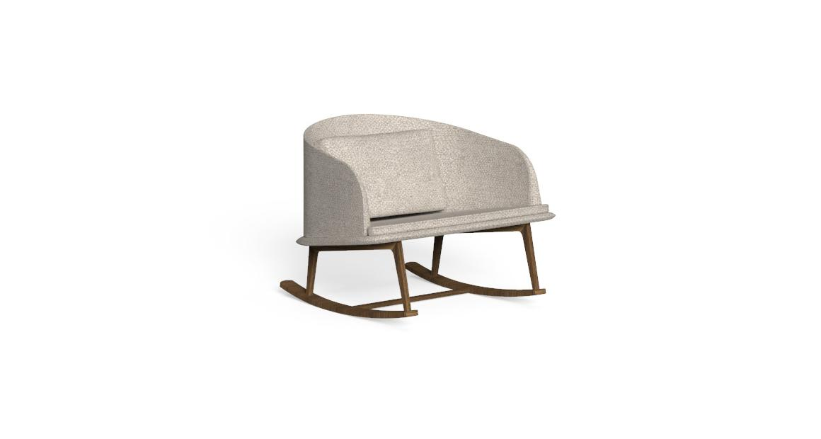 Cleo//Teak Rocking Chair