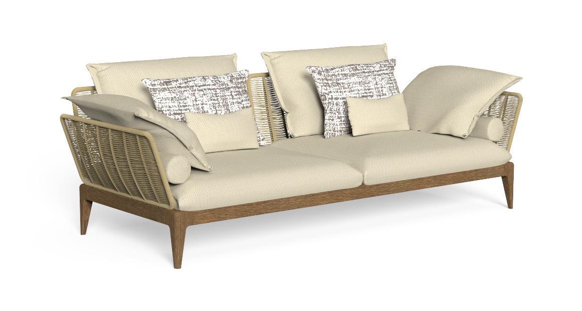 Cruise//Teak 3 seater Sofa
