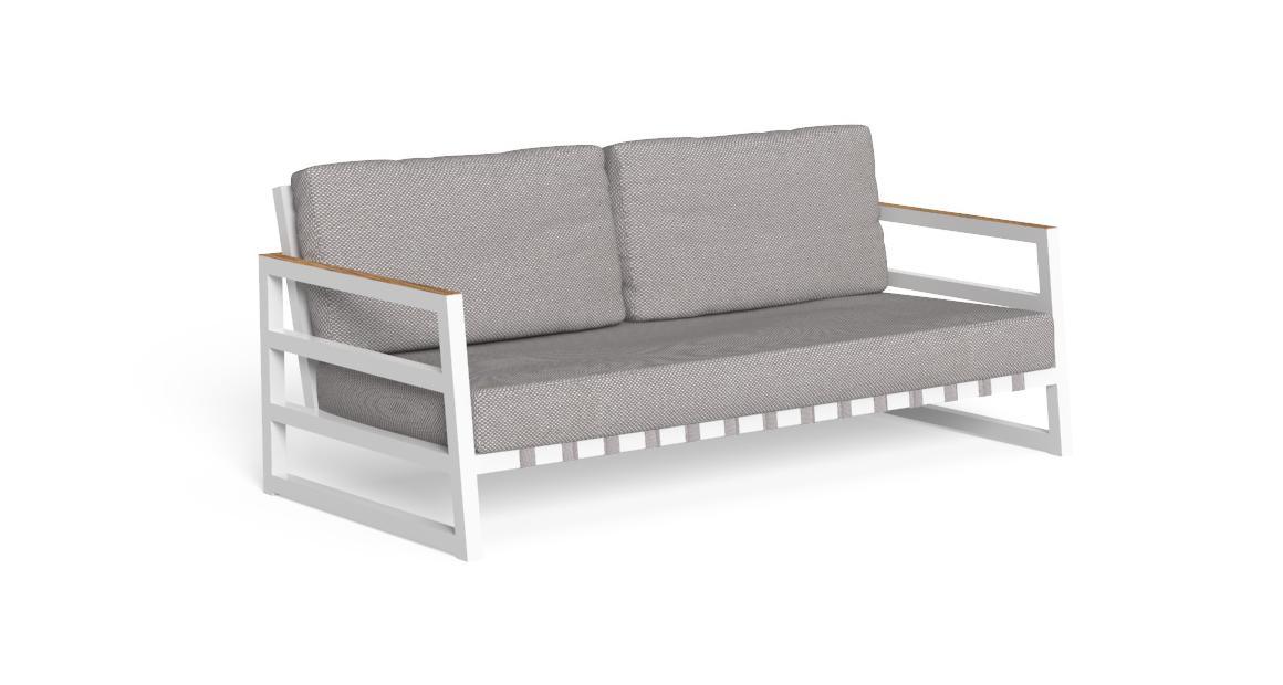 Alabama//Alu Two-seater sofa