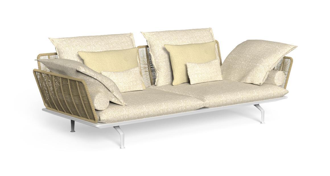 Cruise//alu 3 seater Sofa