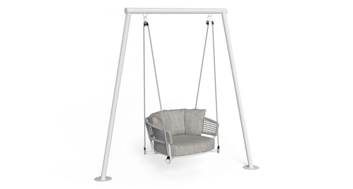 Moon//Alu Swing Armchair