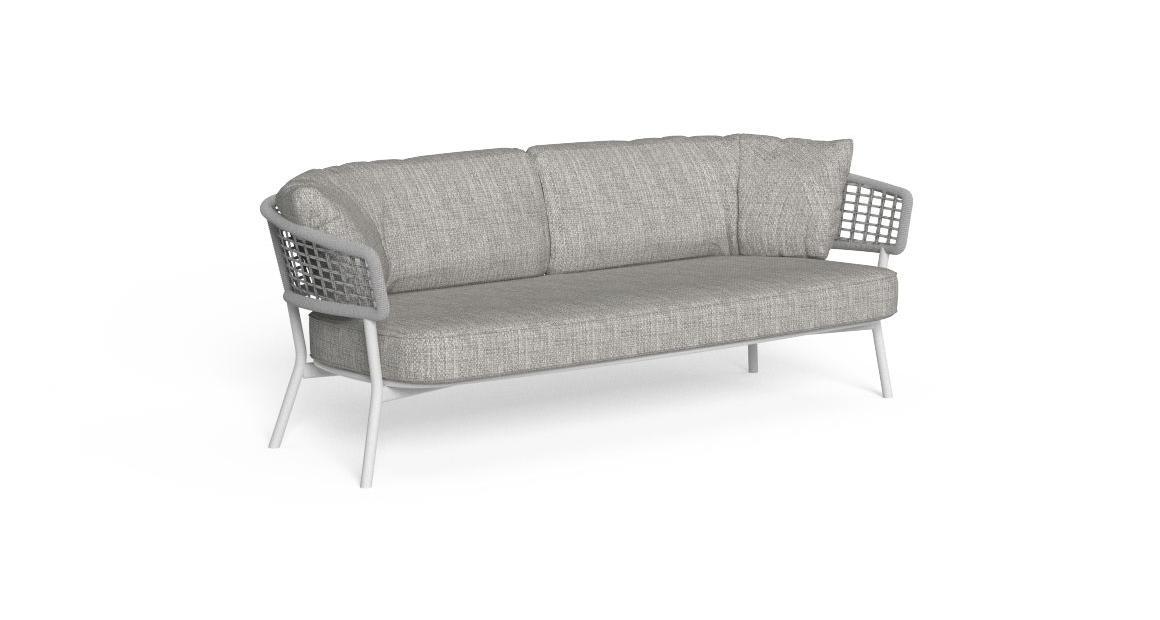 Moon//Alu Two-seater Sofa