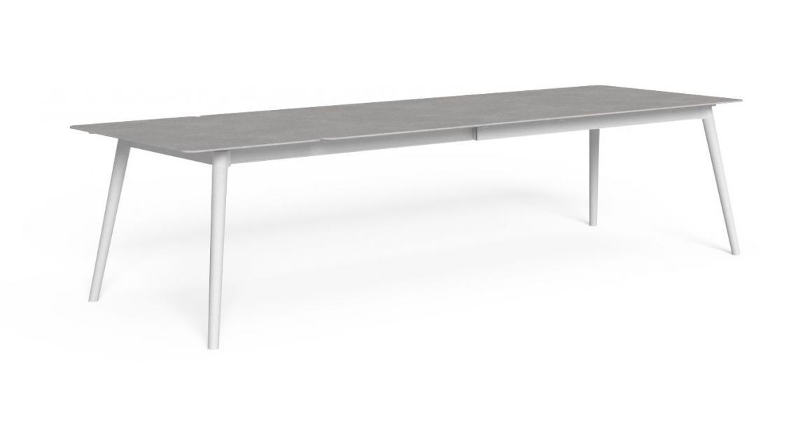 Moon//Alu 240/300×100 Extendible dining Table