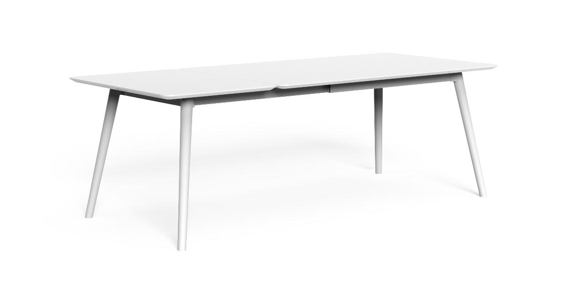 Moon//Alu 160/215×90 Extendible dining Table