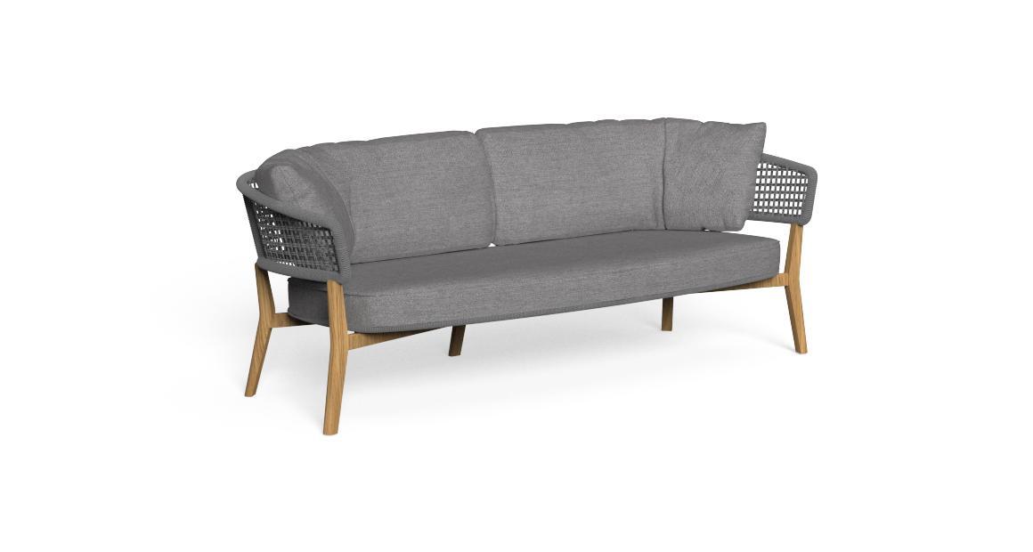 Moon//Teak Two-seater Sofa