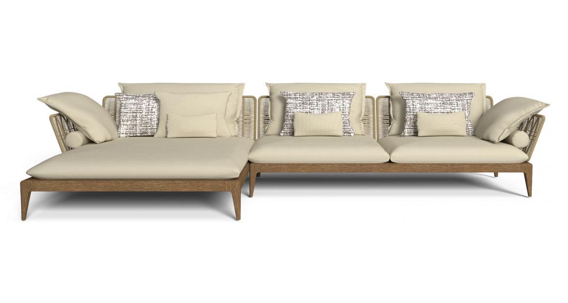 Cruise//Teak Modular Sofa
