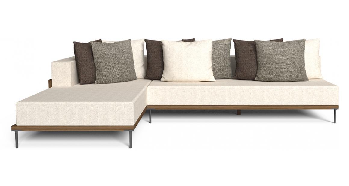 Cleo//Teak Modular Sofa